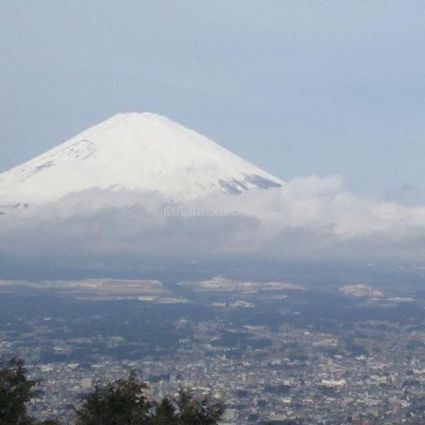 気持ちがいい!乙女峠 ふじみ茶屋からの富士山