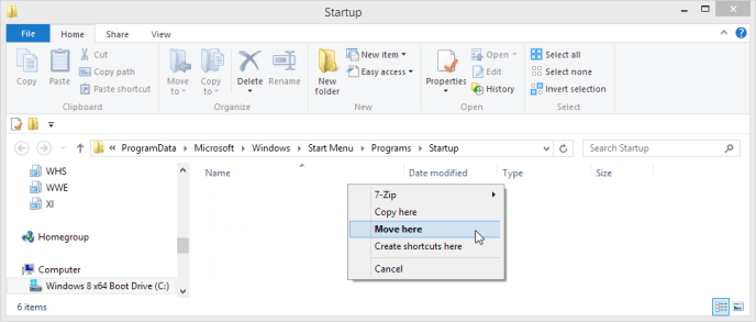 right-click and hold StartTaskManager.cmd to drag it to your 'Startup' folder, choose 'Move here'