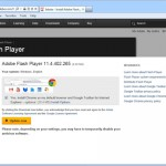 Google chrome as part of the Adobe flash installation