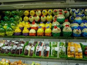 Carefully packaged fruit