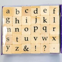 Alphabet Stamps Classic Serif Lowercase