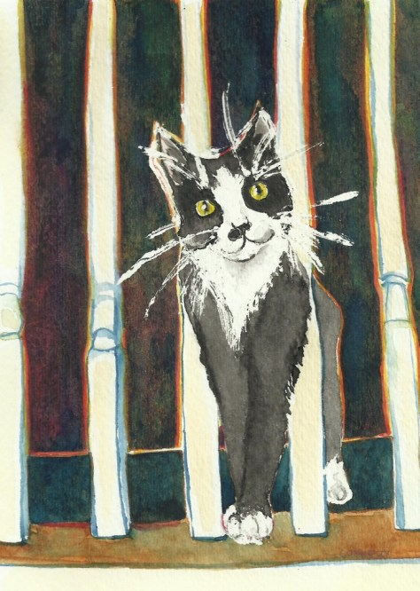 Cats Painted In Watercolor Day 27 September 2016.