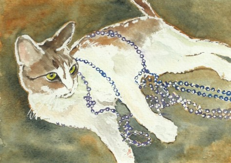 Cats Painted In Watercolor Day 25 September 2016
