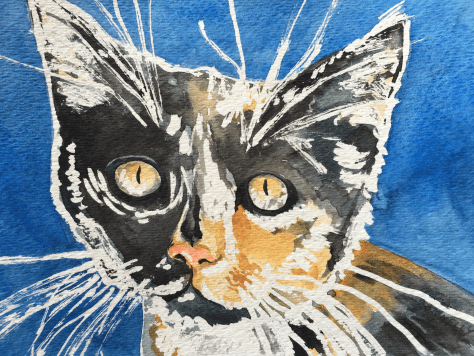 Cats Painted In Watercolor Day 30 September 2016