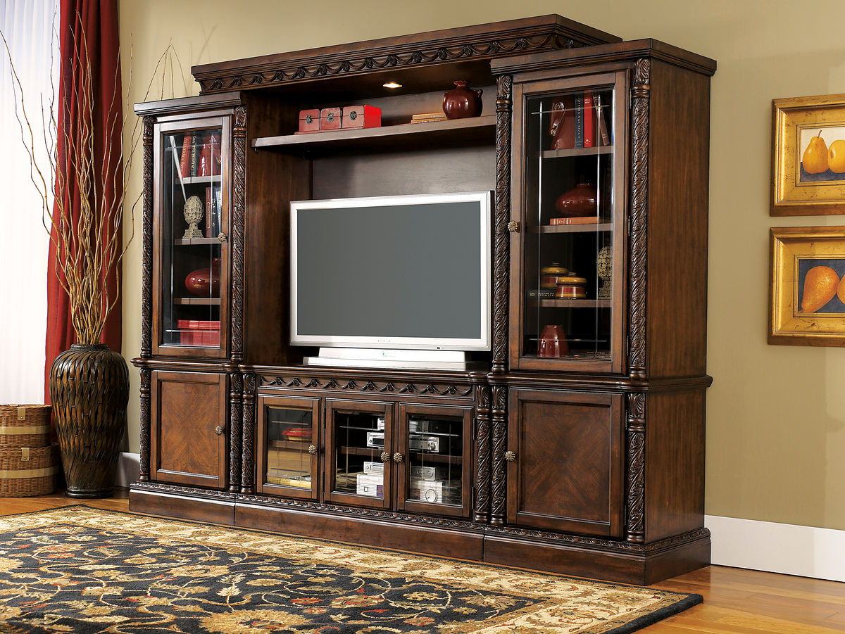 North Shore Entertainment Center Tv Stand Right Pier Left Pier Bridge Ez Furniture Sales Leasing