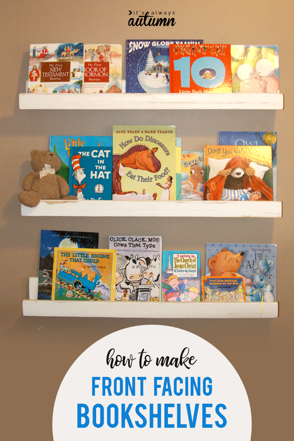 Bookshelves For Kids How To Make Front Facing Bookshelves Perfect For A Kids Room