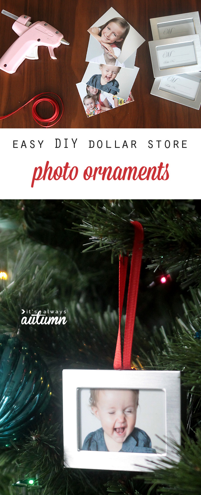 Diy Christmas Ornaments Diy Photo Christmas Ornaments Easy And Cheap It S Always Autumn