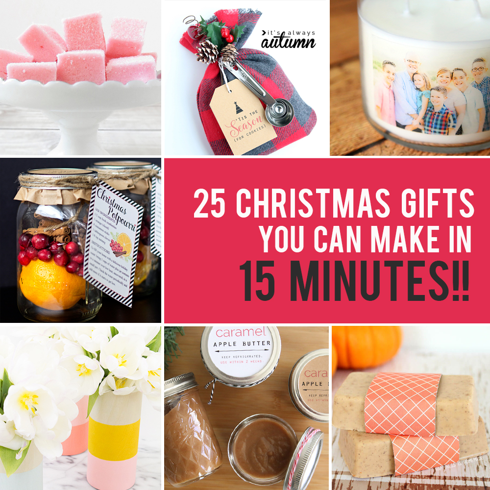 Christmas Homemade Gifts 25 Easy Homemade Christmas Gifts You Can Make In 15 Minutes It S
