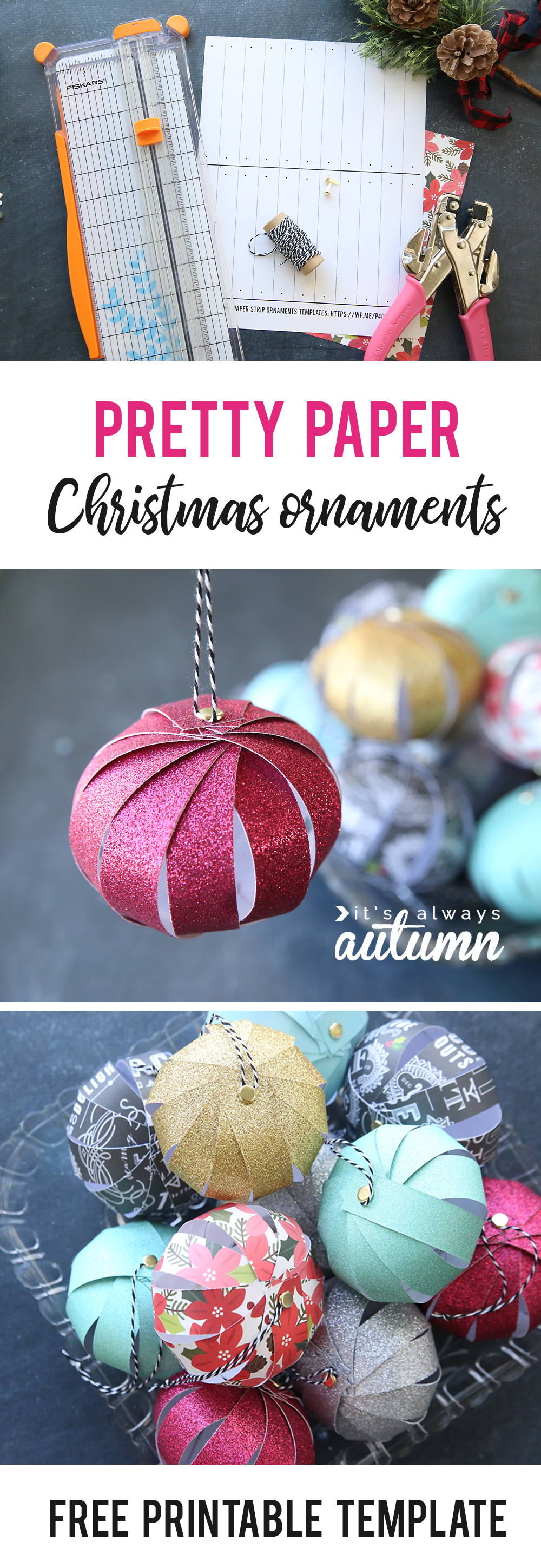 Easy Paper Strip Christmas Ornaments Kids Can Make It 39 S
