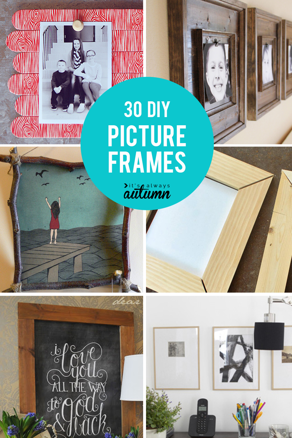How To Frame Pictures 20 Best Diy Picture Frame Tutorials It S Always Autumn
