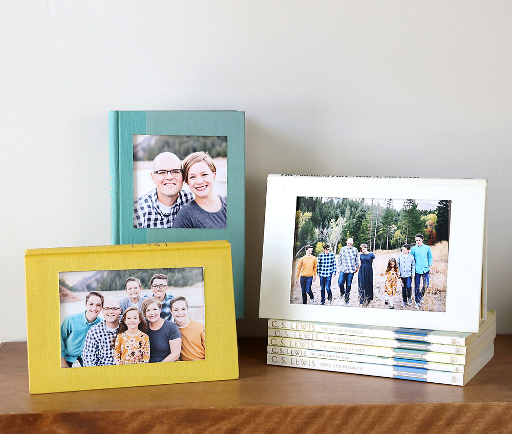 Frame Picture Diy Book Picture Frame Easy Photo Craft Idea