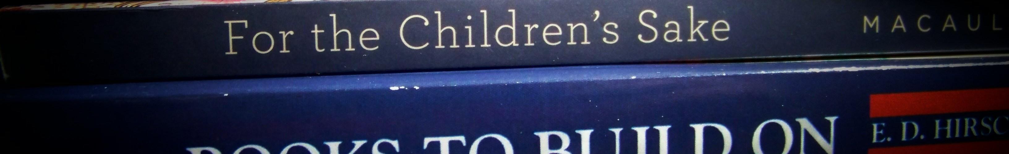 Homeschool book stack