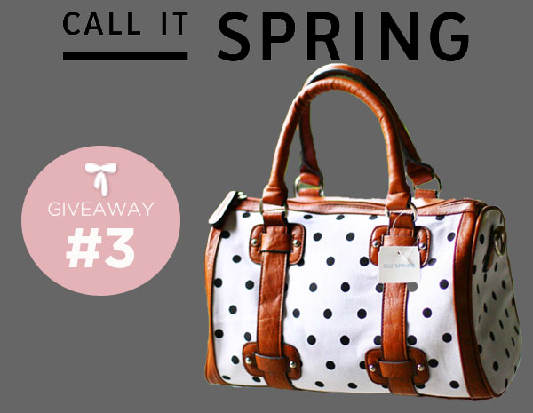 Call It Spring Giveaway # 3