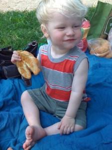 E's second birthday croissant picnic