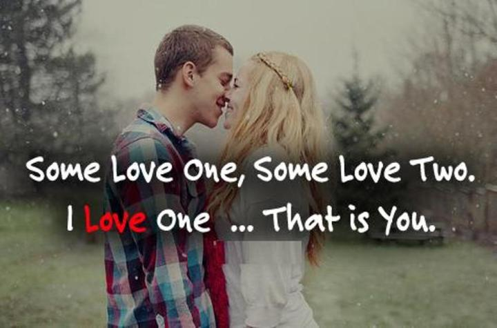 ... romantic couple image with quote . A couple deeply in love with each