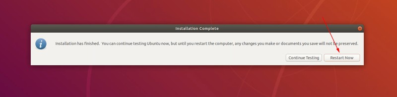 Finished installing Ubuntu Linux