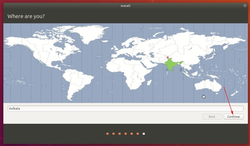 Select timezone when you install Ubuntu