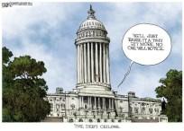 Capital Building's Debt Ceiling Cartoon