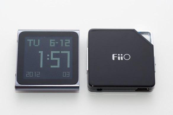 Apple Nano with FiiO E6 Amplifier