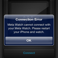 MetaWatch Connection Error