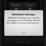 MetaWatch on iOS7