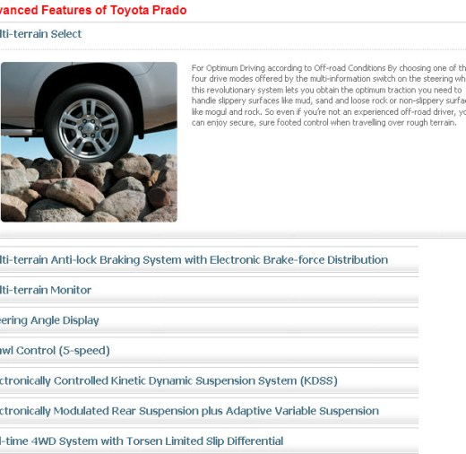 Advance-features of toyota prado2013
