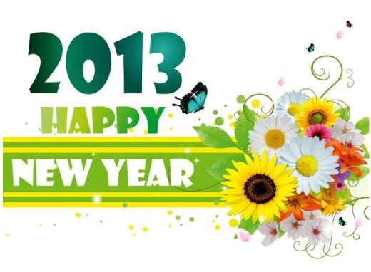 amazing 2013 Happy new year HD widescreen wallpaper