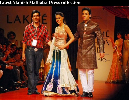 India Top Fashion designer Manish Malhotra beautiful female dress Collection picture 2013 2014