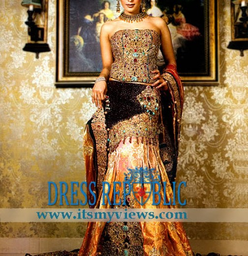 world most beautiful bridal dress 2013