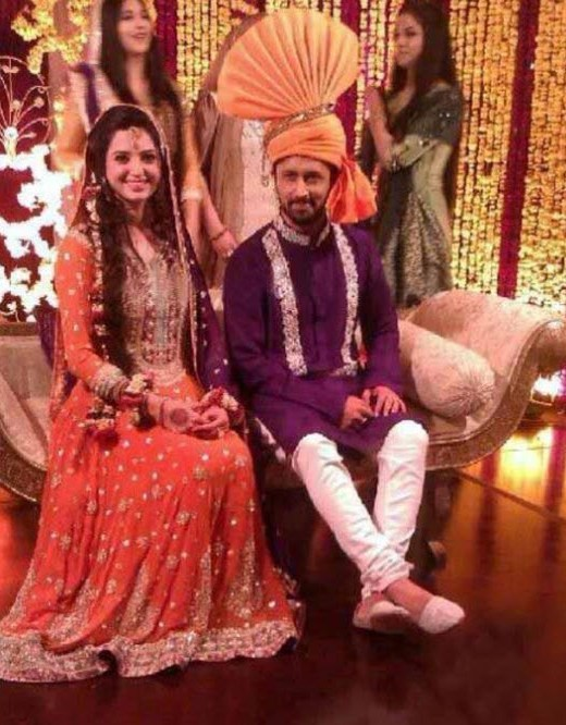 Atif-Aslam-bridal-makeup-and-lehnga picture