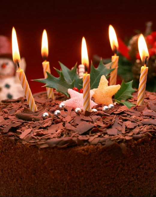 chocolate-birthday-cake-with-candle-design-for kids