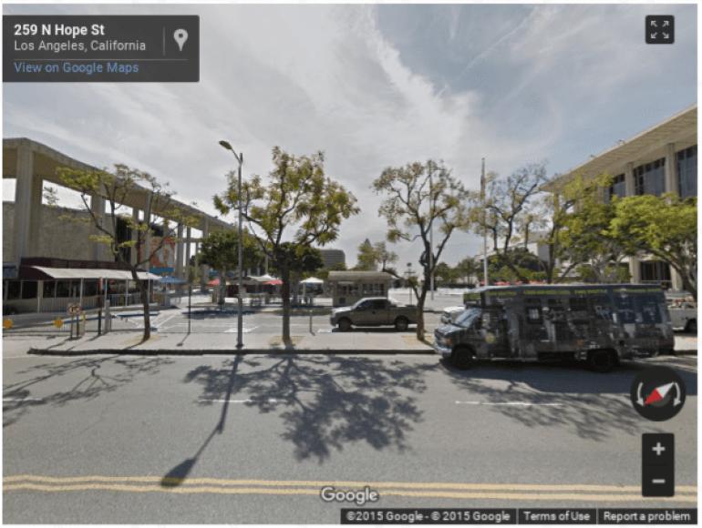 Google Image of N Hope St Los Angeles