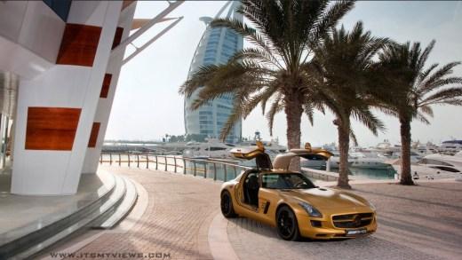 2013-mercedes benz HD-widescreen wallpaper in Dubai Burj Arab
