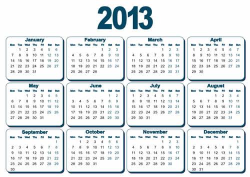 Calendar-2013free download wallpaper