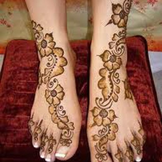 easy-bridal-feet-mehndi-designs-2015 - 2016