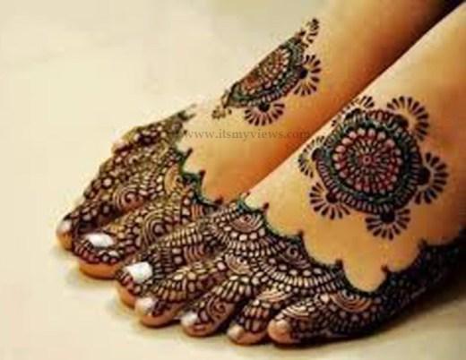 latest-bridal-full-feet-leg-mehndi-design-2015 - 2016
