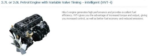 Toyota-Hilux-2013-2014-2.7L-2.0L Petrol-Engine picture