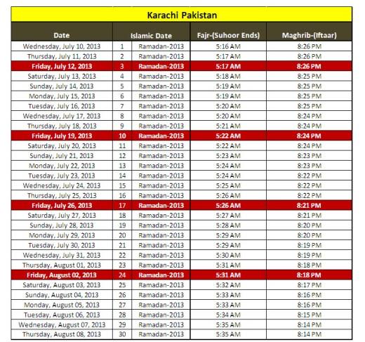 Ramadan-calendar-2013-Karachi-Pakistan-sehri iftar-timing