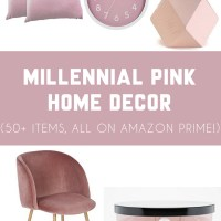 Millennial Pink Home Decor Finds on Amazon Prime
