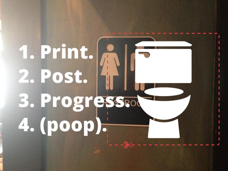 Guerrilla Activism Printable Gender Neutral Bathroom Signs Project