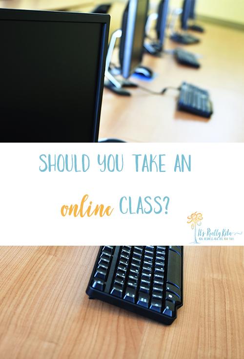 taking an online class
