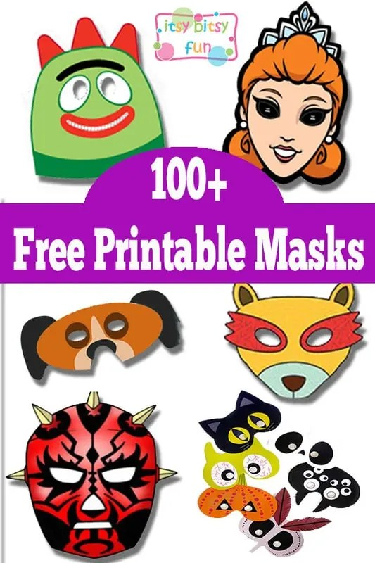 Over 100 Free Printable Masks for Kids - Itsy Bitsy Fun