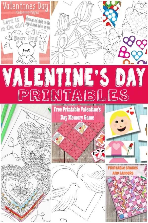 Valentines Day Fun - V-day Printables for Kids - Itsy Bitsy Fun