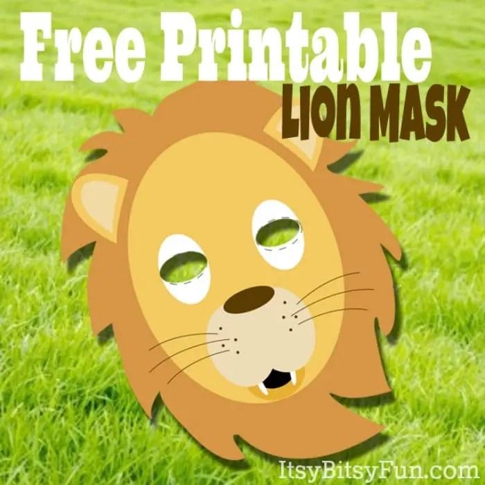 Printable Lion Masks Template (free) - Itsy Bitsy Fun
