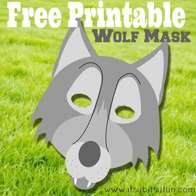 Free Printable Wolf Mask Template - Itsy Bitsy Fun
