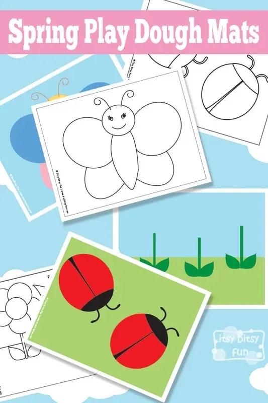 Spring Play Dough Mats - Free Printable - Itsy Bitsy Fun