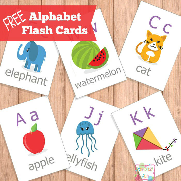 Printable Alphabet Flash Cards - ABC - Itsy Bitsy Fun
