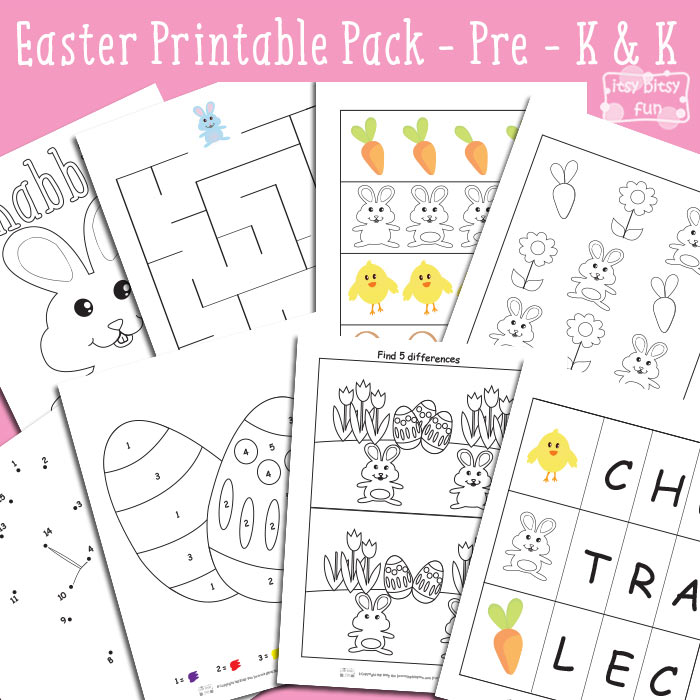 Easter Printable Preschool and Kindergarten Pack - Itsy Bitsy Fun