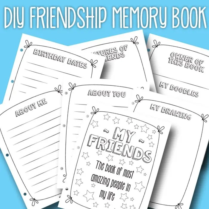 Friendship Book - Itsy Bitsy Fun