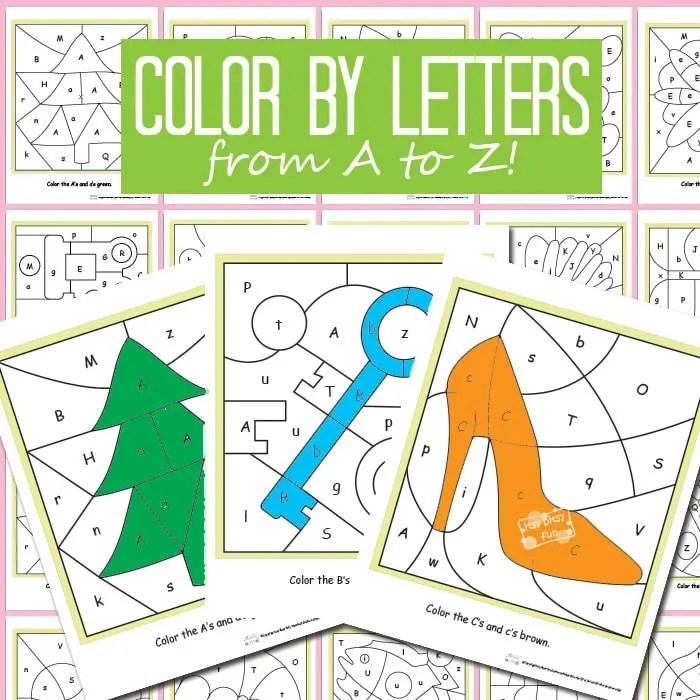 Color By Letters Alphabet Shapes - Itsy Bitsy Fun